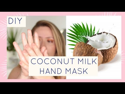 HOW TO GET SOFTER AND BEAUTIFUL HANDS | DIY COCONUT MILK HAND MASK