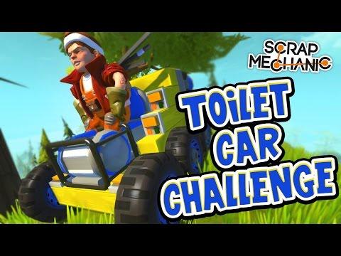 Scrap Mechanic! - TOILET CAR CHALLENGE! Vs AshDubh - [#36]   Gameplay  