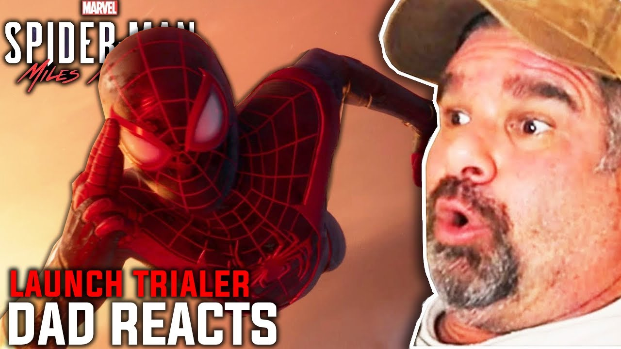Dad Reacts to Spider-Man Miles Morales Launch Trailer - PS5