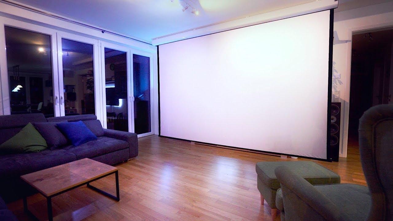 heimkino wohnzimmer integrieren, das ist unser riesiges heimkino-setup! - felixba - youtube, Ideen entwickeln