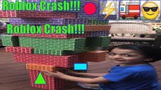 ROBLOX GIANT TOY CRASH!!! DIY R0BLOX!! Roleplay LOL!