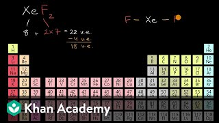 Worked example: Lewis diagram of xenon difluoride (XeF₂) | AP Chemistry | Khan Academy