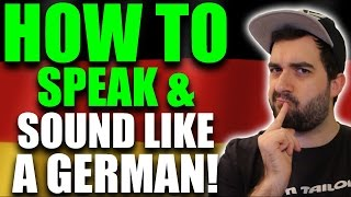 How to sound like a NATIVE GERMAN speaker! 😙 A pronounciation language lesson | VlogDave