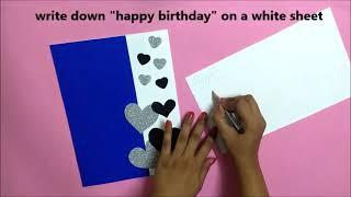 A Beautiful Handmade Birthday Greeting Card for BOYFRIEND   DIY birthday card idea   tutorial