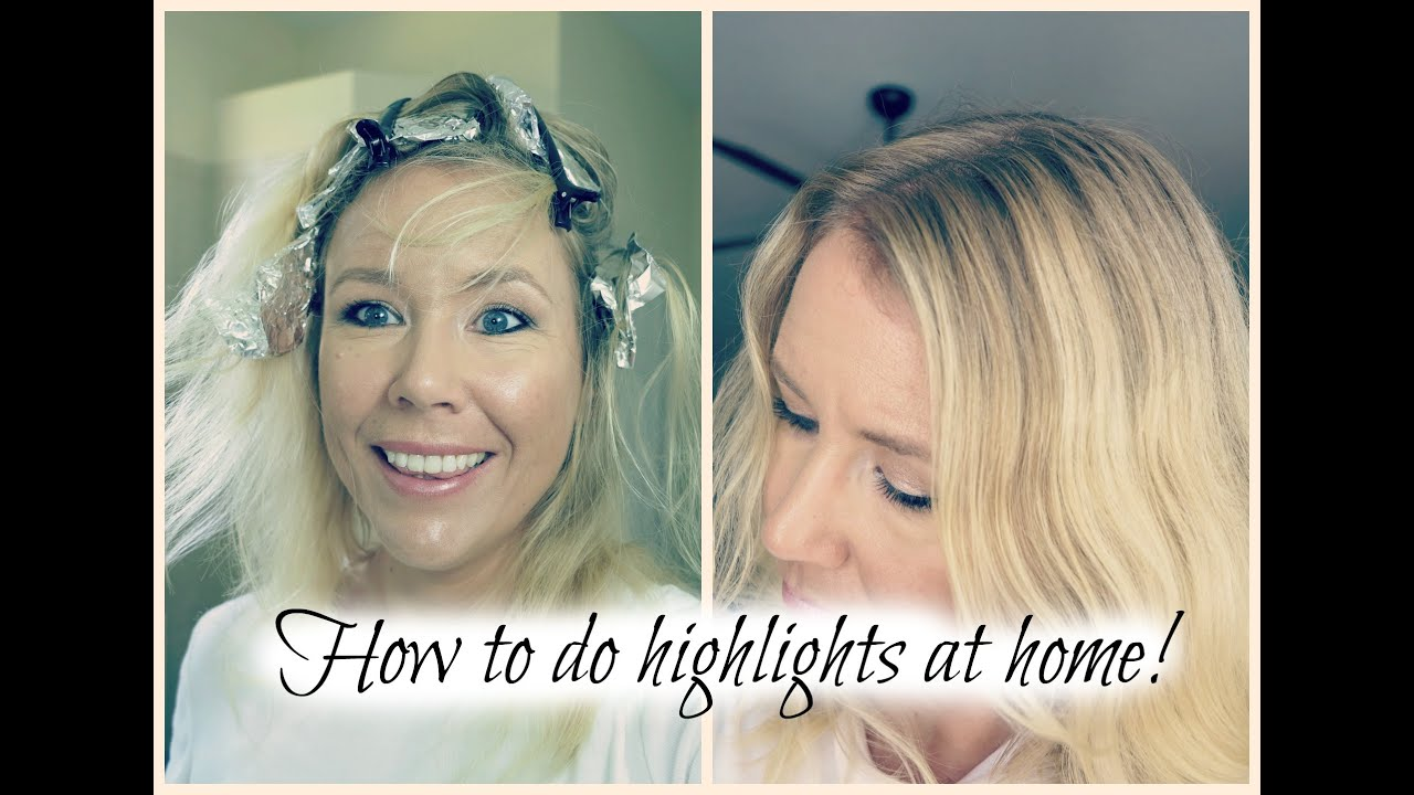 How To Highlight Your Hair At Home Over 40 Beauty Youtube