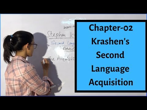 Stephen Krashen's Theory Of Second Language Acquisition Hypothesis | Chapter-02 | English Pedagogy