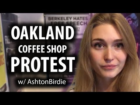 Oakland Coffee Shop Protest with AshtonBirdie
