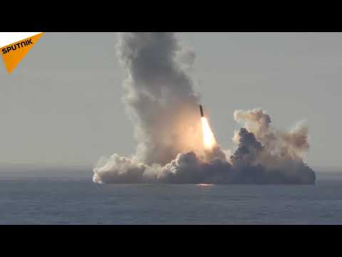 Russia: Borey-Class Submarine Fire a Missile Salvo From Sea Depths For the First Time