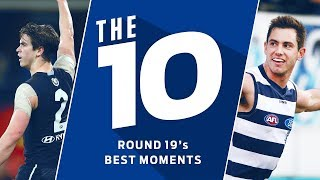 The 10: Best moments from Round 19 | 2018 | AFL