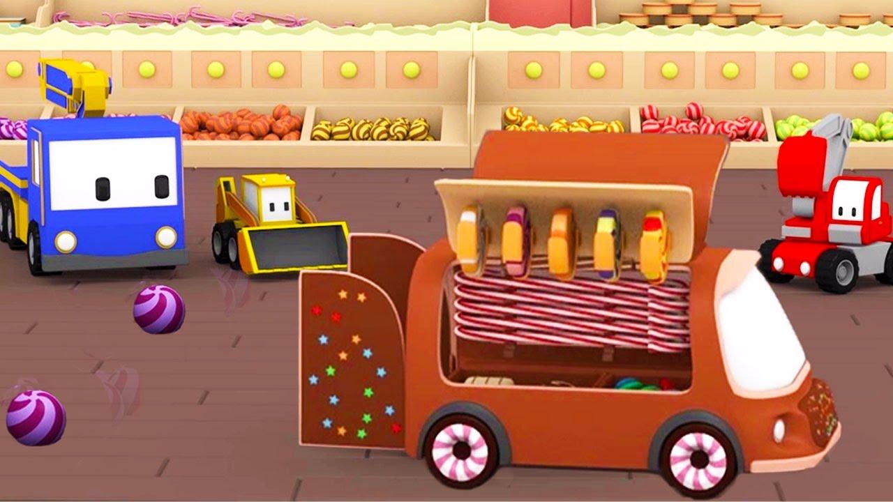 Tiny Trucks The Candy Shop Learn With Tiny Trucks Bulldozer Crane