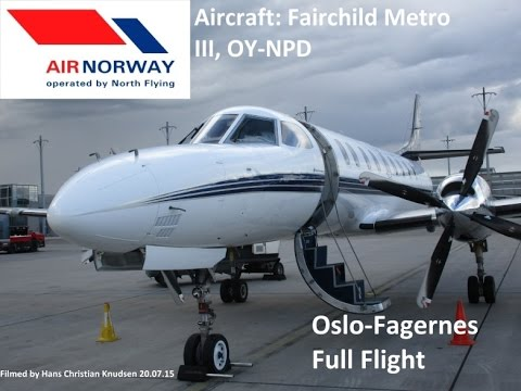 "Air Norway  Fairchild Metro Oslo-Fagernes ""Full Flight"""