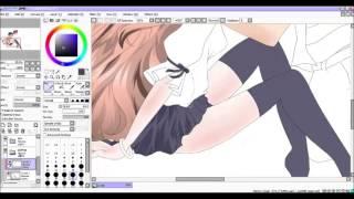 SAI speed paint- anime couple