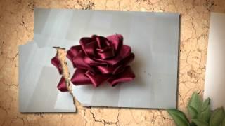 Изготовление искусственных цветов. Красивая красная роза