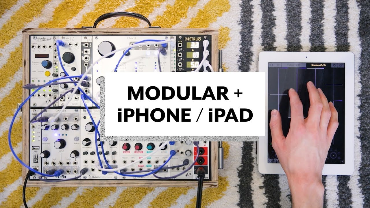 how i use an iphone ipad with my modular synth youtube. Black Bedroom Furniture Sets. Home Design Ideas