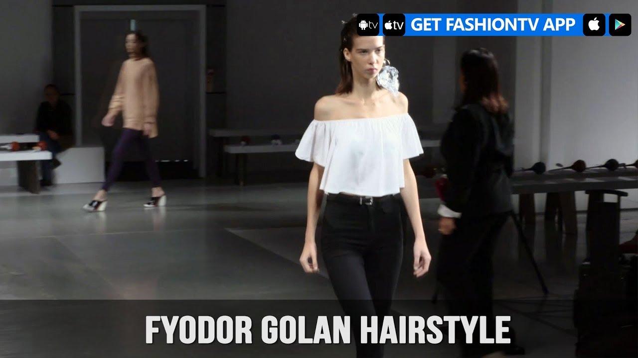 London Fashion Week Spring/Summer 2018  - Fyodor Golan Hairstyle | FashionTV