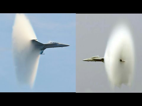 Jets breaking sound barrier SONIC BOOM Compilation