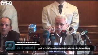 مصر العربية   وزير التعليم العالى: الحد الأدنى للمرحلة الاولى بالقسم العلمى 96.7% و81% بالأدبي