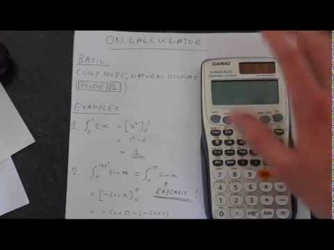 Casio Fx 991ES Plus Calculus Integration and Differentiation Tutorial