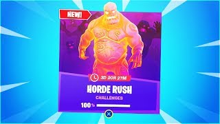How To Complete ALL Horde Rush Challenges In Fortnite! (FREE REWARDS)