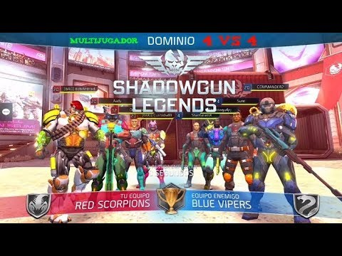 SHADOWGUN LEGENDS Multijugador modo Dominio 4 vs 4 vídeo serie #24