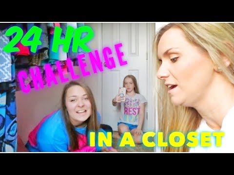 24 HR CHALLENGE IN THE CLOSET | Bryleigh Anne