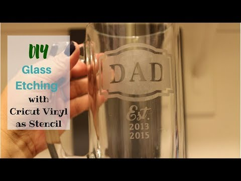 Etch Beer Mug | Gifts for him | Cricut Vinyl Stencil | Design Space