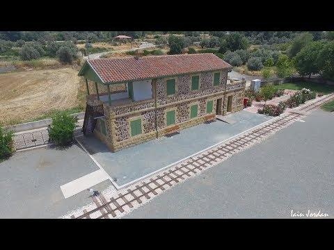 Cyprus Railway Museum Evrychou Troodos Nicosia Cyprus Aerial Filming