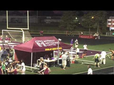 Dunlap High School 4x400 Tracker Harris