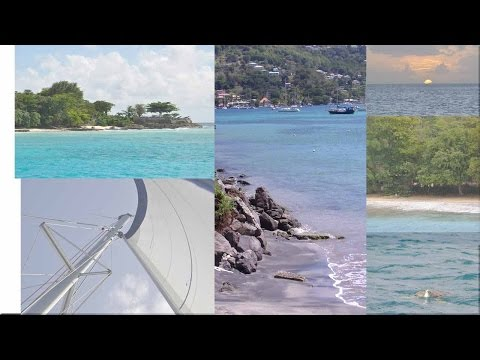Sailing and Anchoring in Carlisle Bay, Bridgetown, Barbados