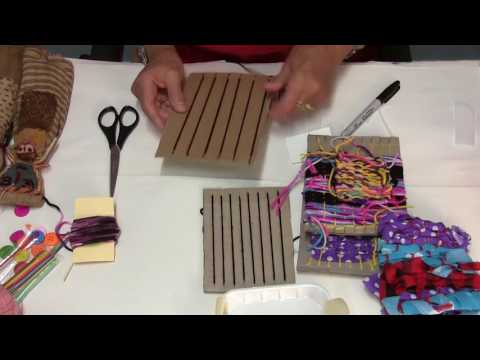 Textile Projects - Part 1 - Weaving with fabrics and yarns