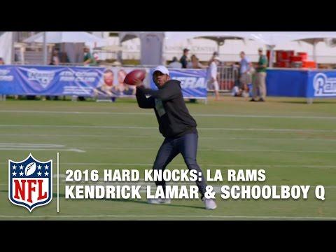 Kendrick Lamar & ScHoolboy Q Show off Their Football Skills | Hard Knocks: LA Rams (2016)