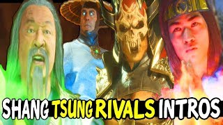 MK11 Shang Tsung Vs His ARCH RIVALS All Intros - Mortal Kombat 11