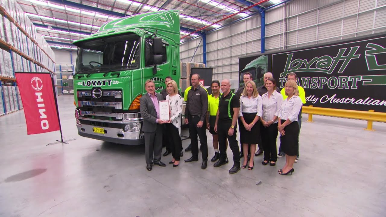 Lovatt Transport presented with 100,000th Hino truck in Australia