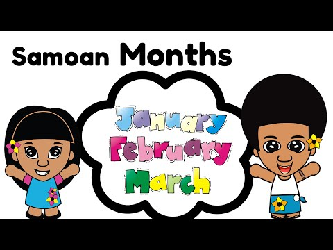 Learn Months of the Year in Samoan Language