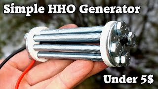 Making a Simple HHO Generator under 5$