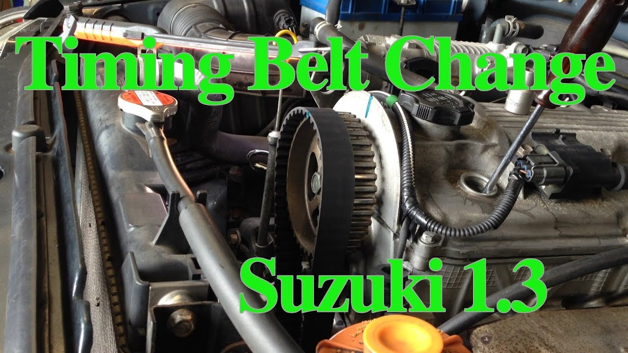 changing the timing belt and water pump on a suzuki 1 3 (part1)