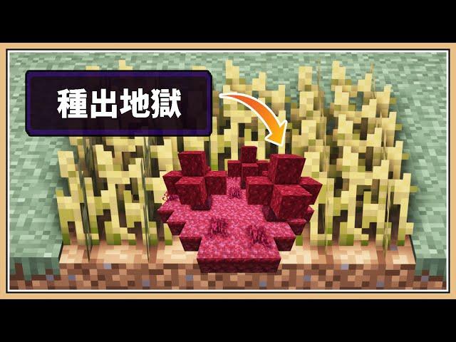 【Minecraft】但是能夠..「種出生態系🏝️」【生存挑戰】人間地獄