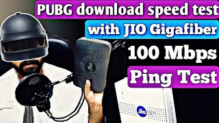 Jio Gigafiber Pubg Mobile Download Speed And Ping Test 100 Mbps