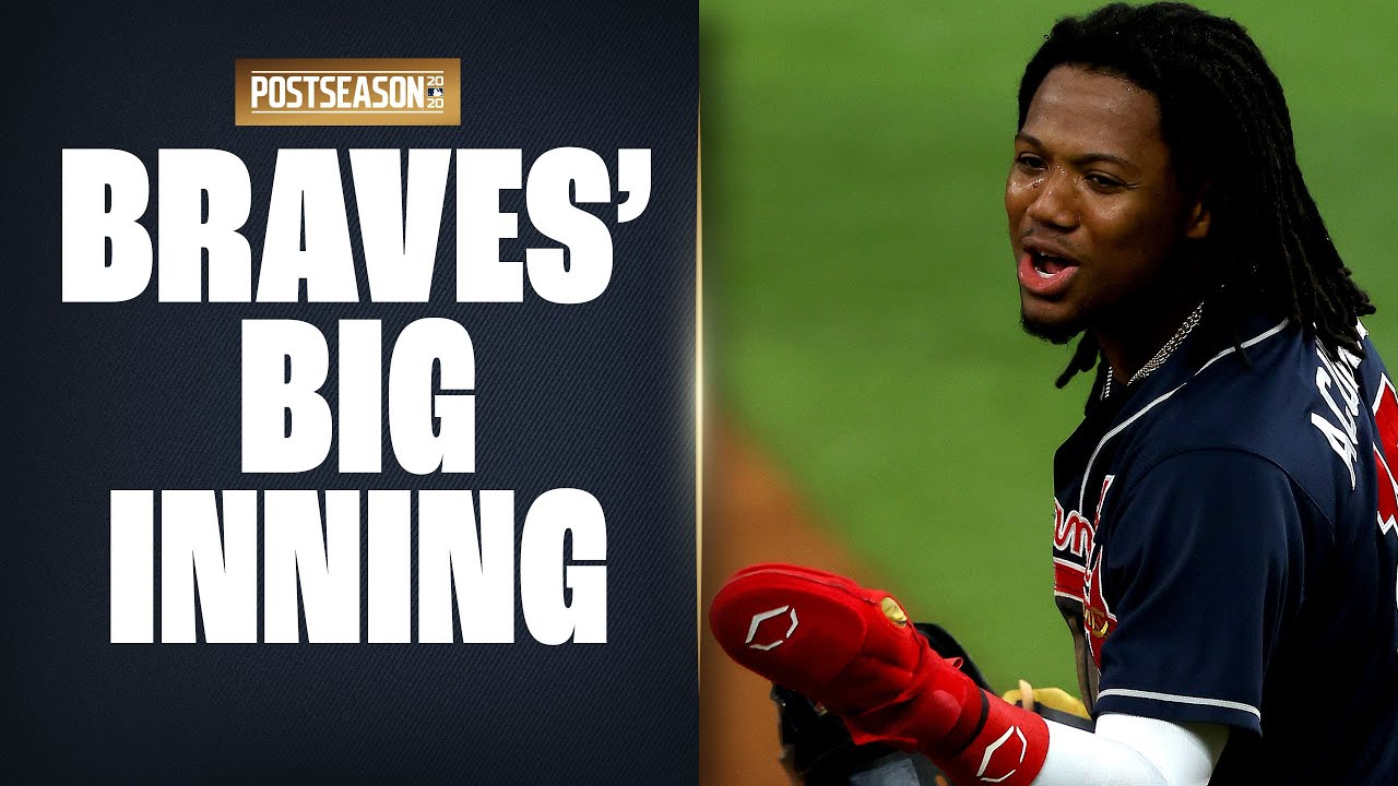 Braves put up 4 runs in 1 inning to take BIG lead on Dodgers in NLCS Game 2!