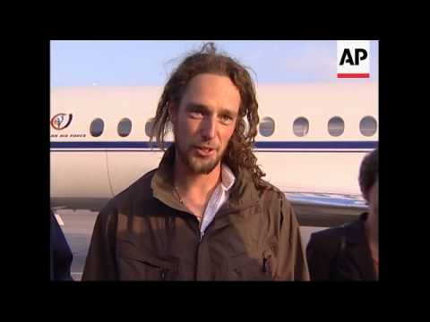 Freed Belgian tourist who was kidnapped in Iran arrives back home