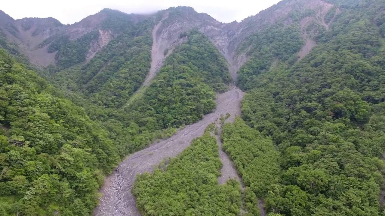 1707年宝永地震で崩壊した大谷崩...