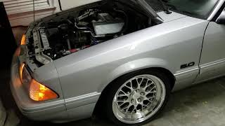 1993 Silver Mustang Coupe With Fikse Wheels