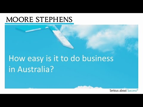 How easy is it to do business in Australia