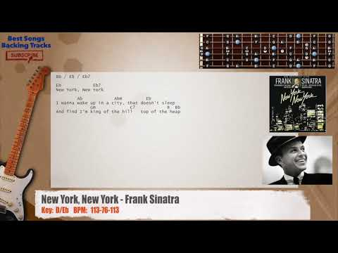 New York, New York - Frank Sinatra Guitar Backing Track with chords and lyrics