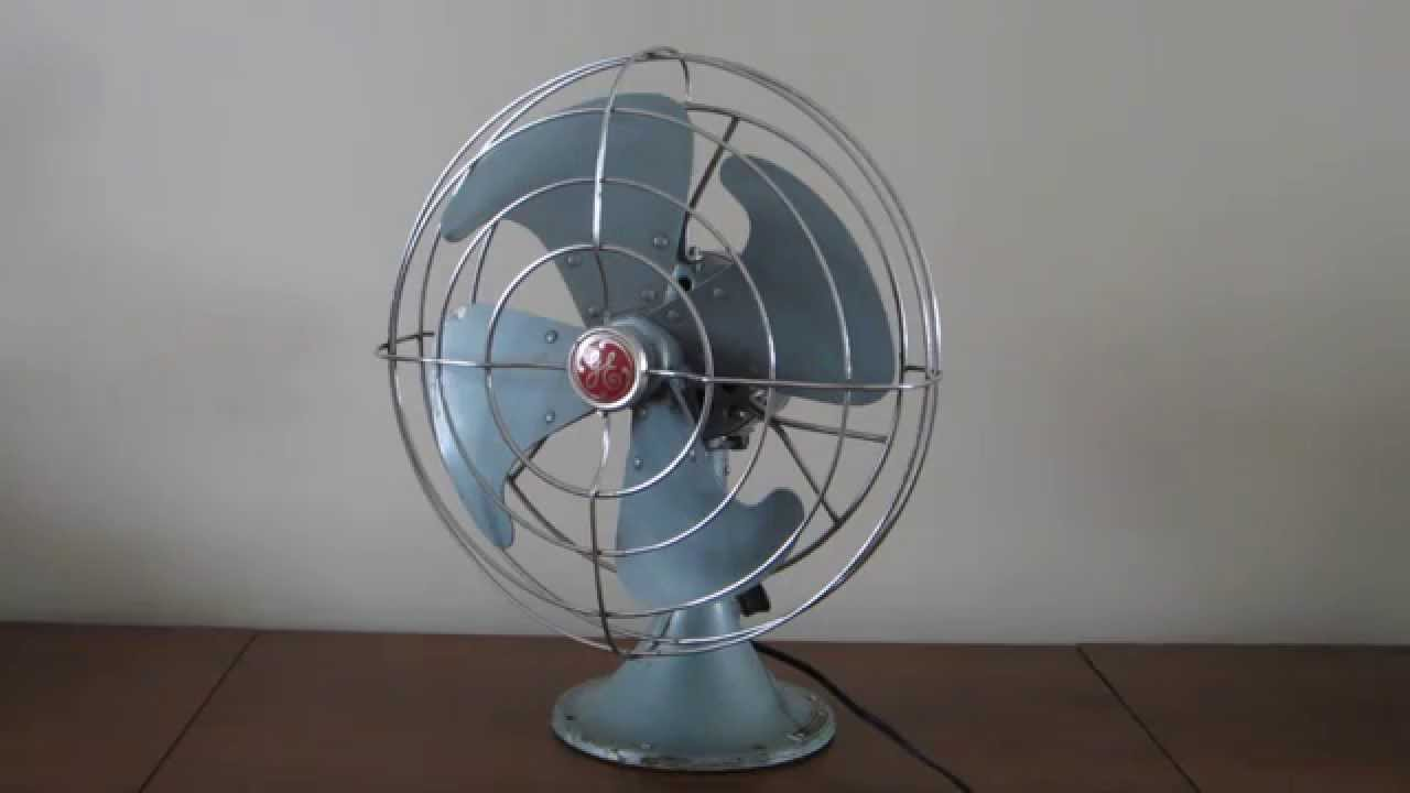 History About The Electric Fan : General electric vortalex quot desk fan model fm v youtube