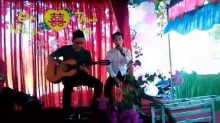 [Guitar version]Hát love yourself trong đám cưới 080516