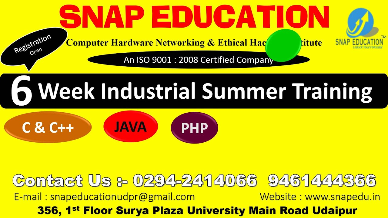 SNAP EDUCATION – Institute in Hardware Networking Software