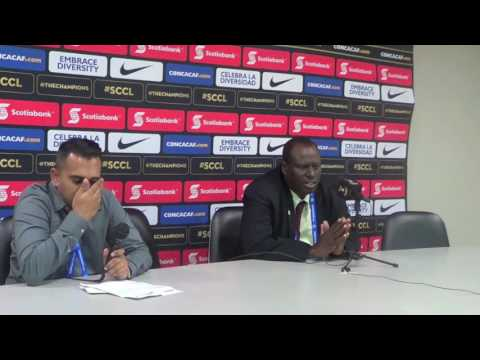 Stuart Charles Fevrier at Post Match Press Conference after 1-1 draw with Progreso