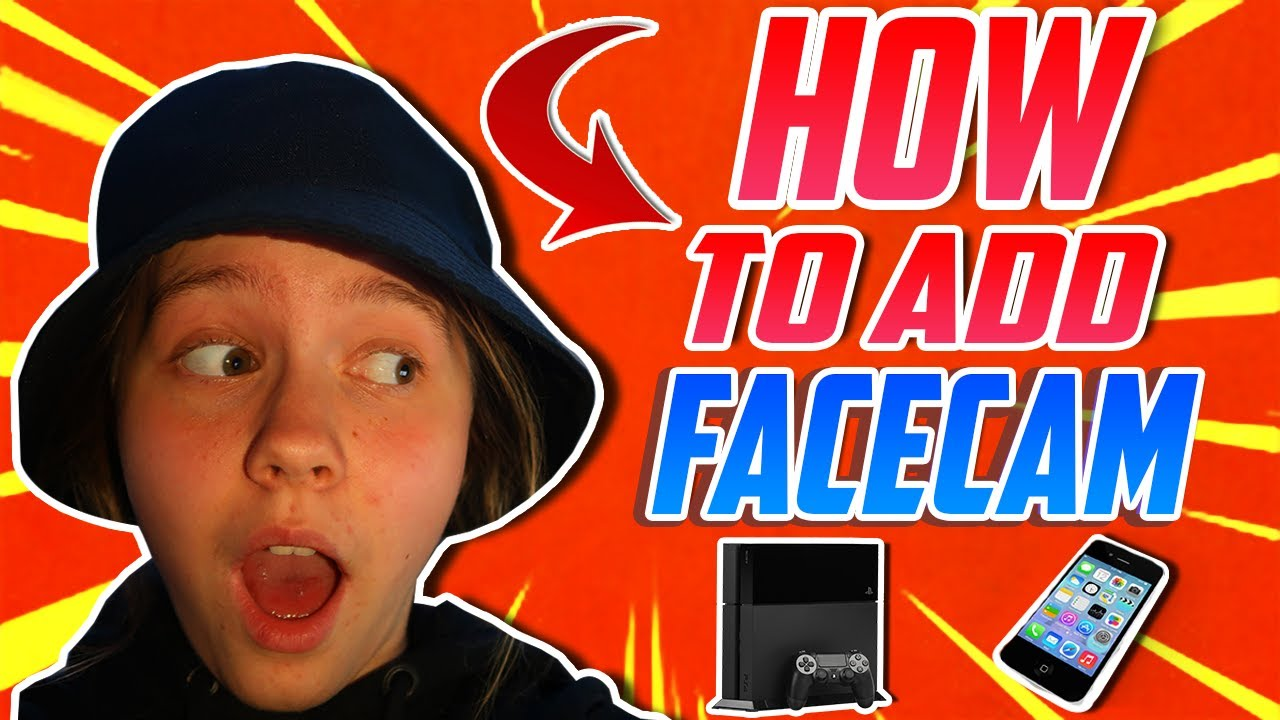 HOW TO ADD FACECAM TO PS4 GAMEPLAY!! (WORKING 2020📱💯🔥)
