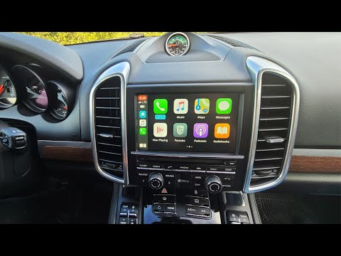 Wireless CarPlay and AndroidAuto in Porsche Cayenne 2011-2016 (supports touch screen)